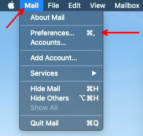 Apple Mac Mail Preferences