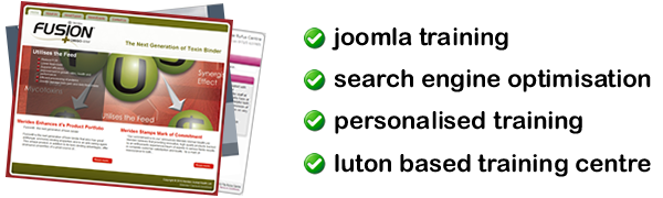 UK Joomla Training, personalised joomla training, corporate joomla training, cms joomla training