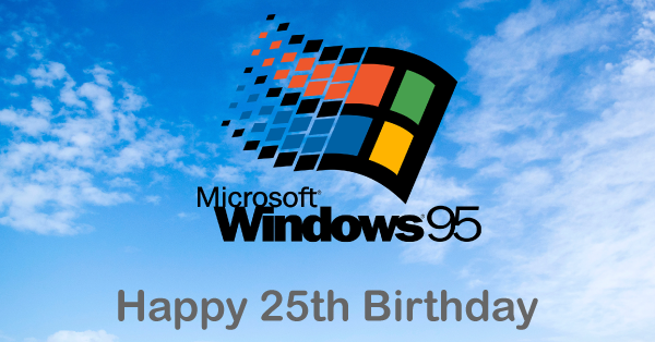 25th Birthday Windows 95 Twitter