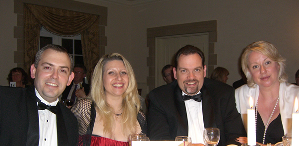 Ian Chilvers, Louise Moughton, Craig Fisher, Sarah McClintock attend the Barclays Summer Ball 2010 at Luton Hoo