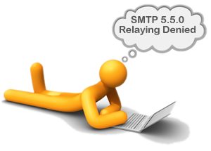 SMTP 550 relaying denied